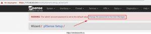 Перехожу в мастер изменения пароль на Login: admin в PfSense 2.4.4