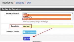 Создаю Bridge интерфейс объединяющий Wi-Fi & Lan